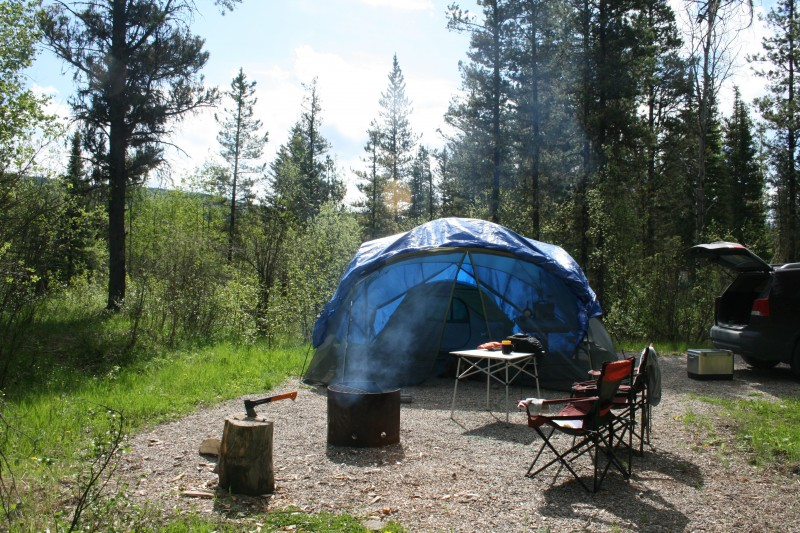 Gregg Lake campground William A Switzer Park Alberta