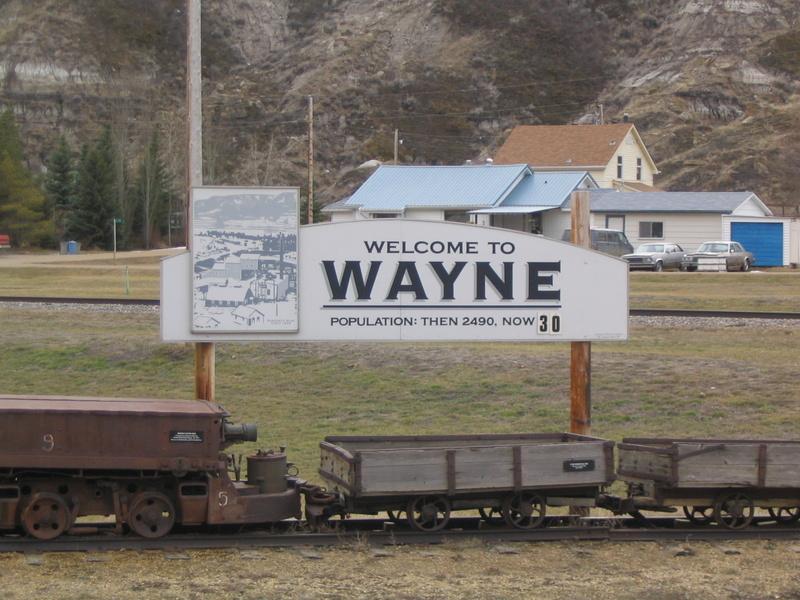 town of Wayne Alberta