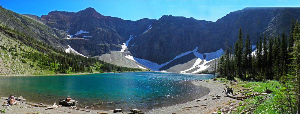 Crypt Lake View: Hiking Waterton Lakes National Park Alberta