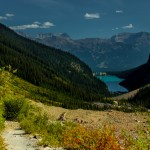 Roads less travelled by tourists at Lake Louise