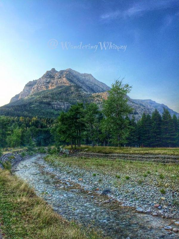 Crandell Mountain stands watch over the Waterton Lakes National Park
