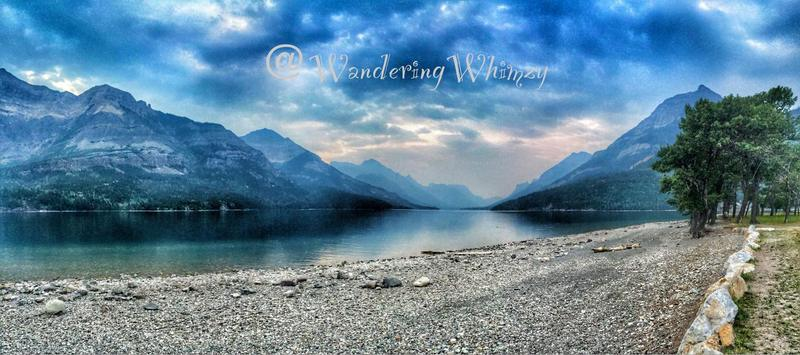 Waterton Lakes had a haze from wild fire smoke, blowing up from the United States during our visit.