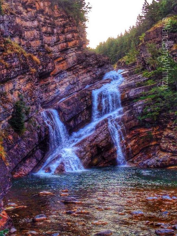 cameron falls, waterton lakes national park, alberta