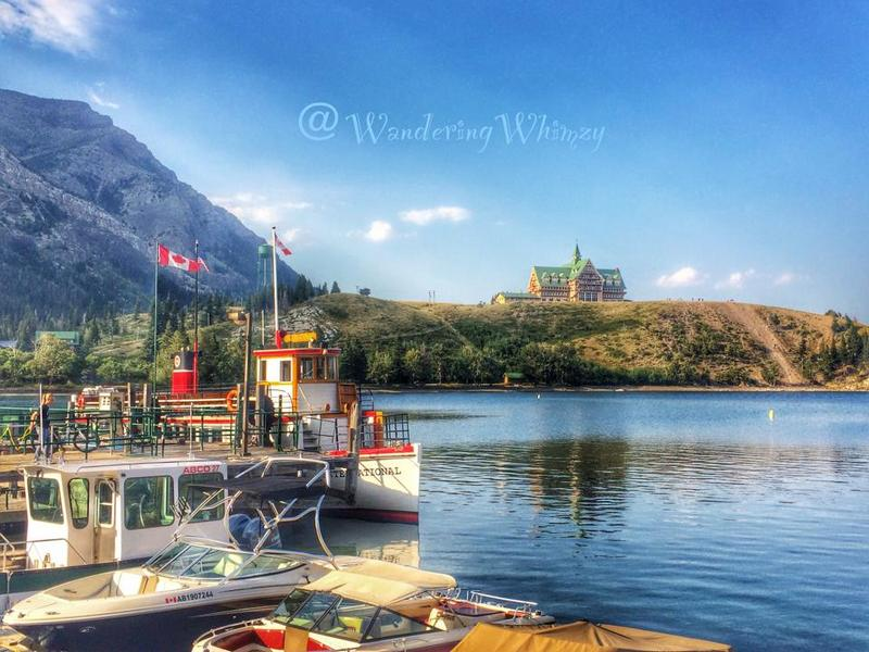 Sunset cruise aboard the International. It takes us down Upper Waterton Lake and across the US border