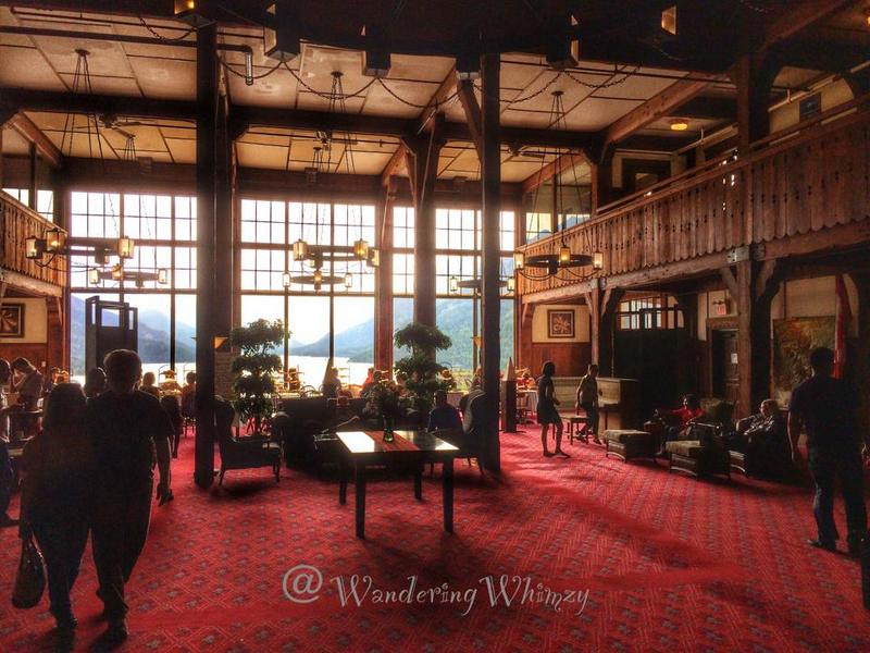 Inside the Prince of Wales Hotel, it's like you've taken a trip back in time