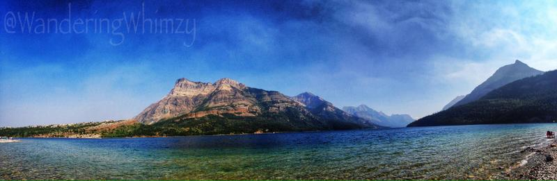 A spectacular view of Vimy Peak across Upper Waterton Lake. There's a ferry that takes hikers to the other side for day trips.