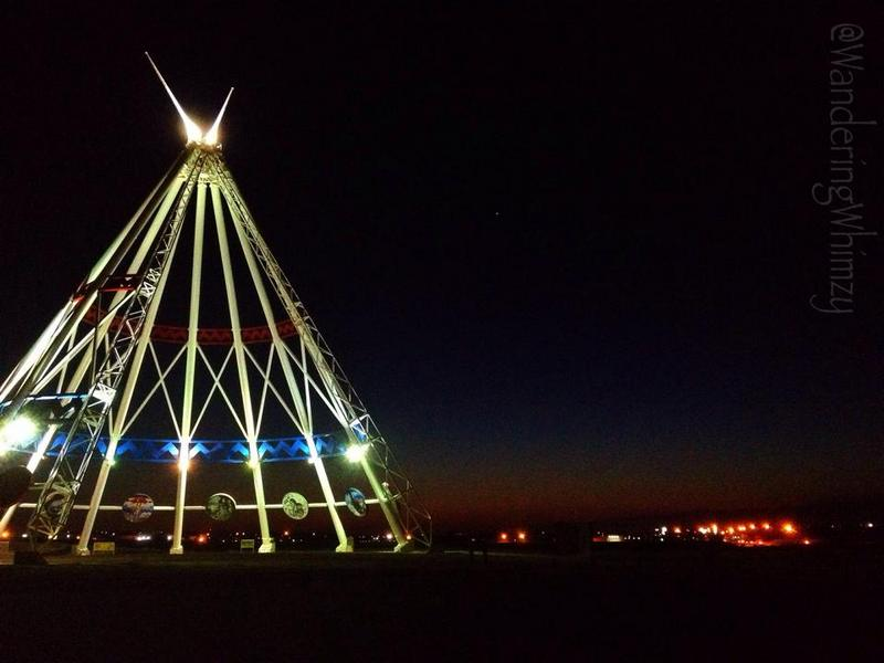 The tipi outside of Medicine Hat, Alberta
