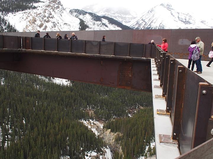Glacier Board walk steel structure at Jasper National Park