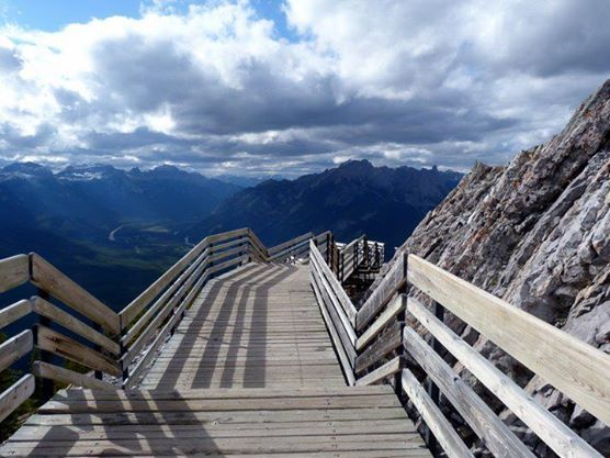 The view from the wooden walkways at the summit