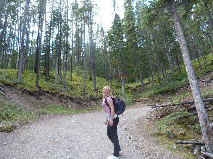 Banff Sulphur Mountain Trail beginning
