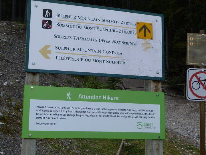 Hiking the Sulphur Mountain at Banff National Park