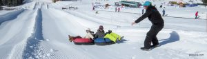 Tubing at Lake Louise Ski Resort 'Sunny Tube Park'